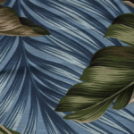 Blue Leaves Barkcloth