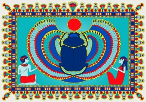 In ancient Egypt the Scarob Beetle was sacred, seen as a symbol of the sun god, Ra.